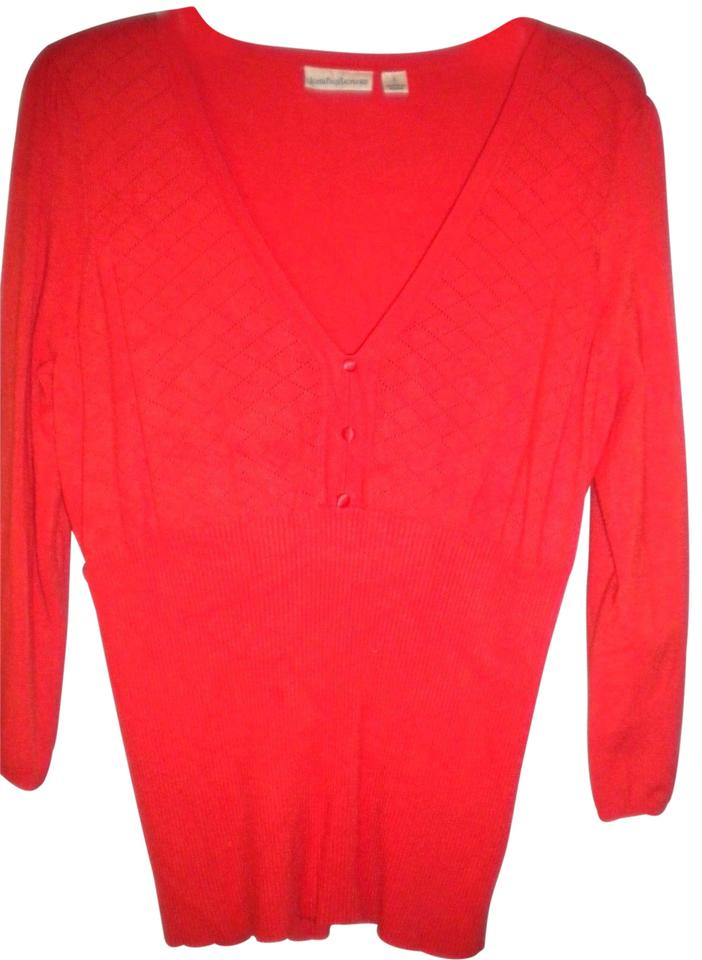 26ea3e0db8c John Paul Richard Women Size Large Orange Sweater - Tradesy