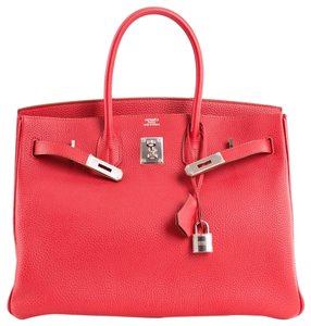 Hermès Birkin Birkin 35 Birkin Togo Leather Most Popular Satchel in Rouge Garance