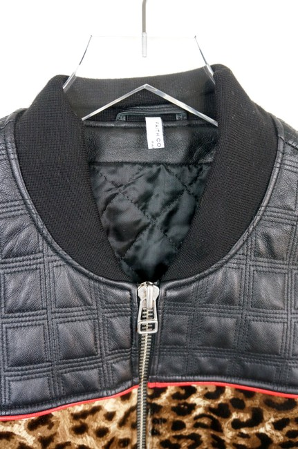 Faith Connexion Quilted Leather & Leopard Cowhide Bomber Jacket Image 6