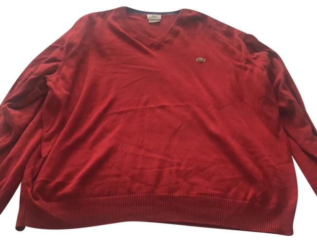 Preload https://img-static.tradesy.com/item/23777746/lacoste-men-s-vneck-red-sweater-0-1-650-650.jpg
