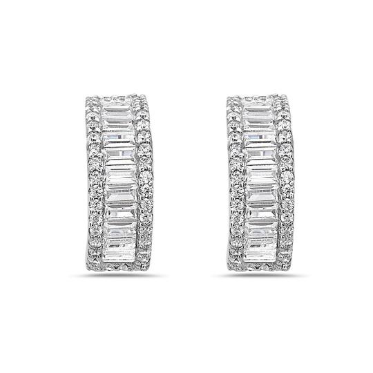 Preload https://img-static.tradesy.com/item/23777748/crush-and-fancy-silver-siren-925-sterling-baguette-and-round-crystal-huggie-earrings-0-0-540-540.jpg