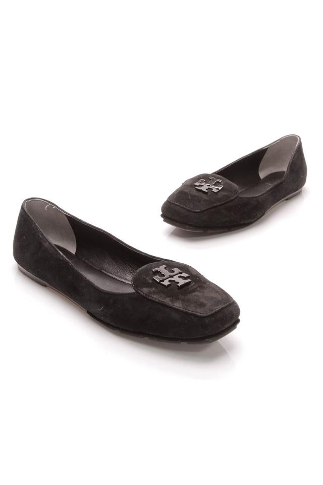 4a6bb462ac0bd6 Tory Burch Fitz Loafers - Black Suede Flats Size US 7.5 Regular (M ...