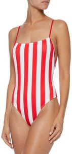 Solid & Striped Solid & Striped Chelsea One Piece Red & White Striped