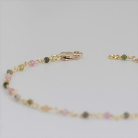 Other Multi Color Beaded Bracelet in 18k Gold Plated Sterling Silver Image 2