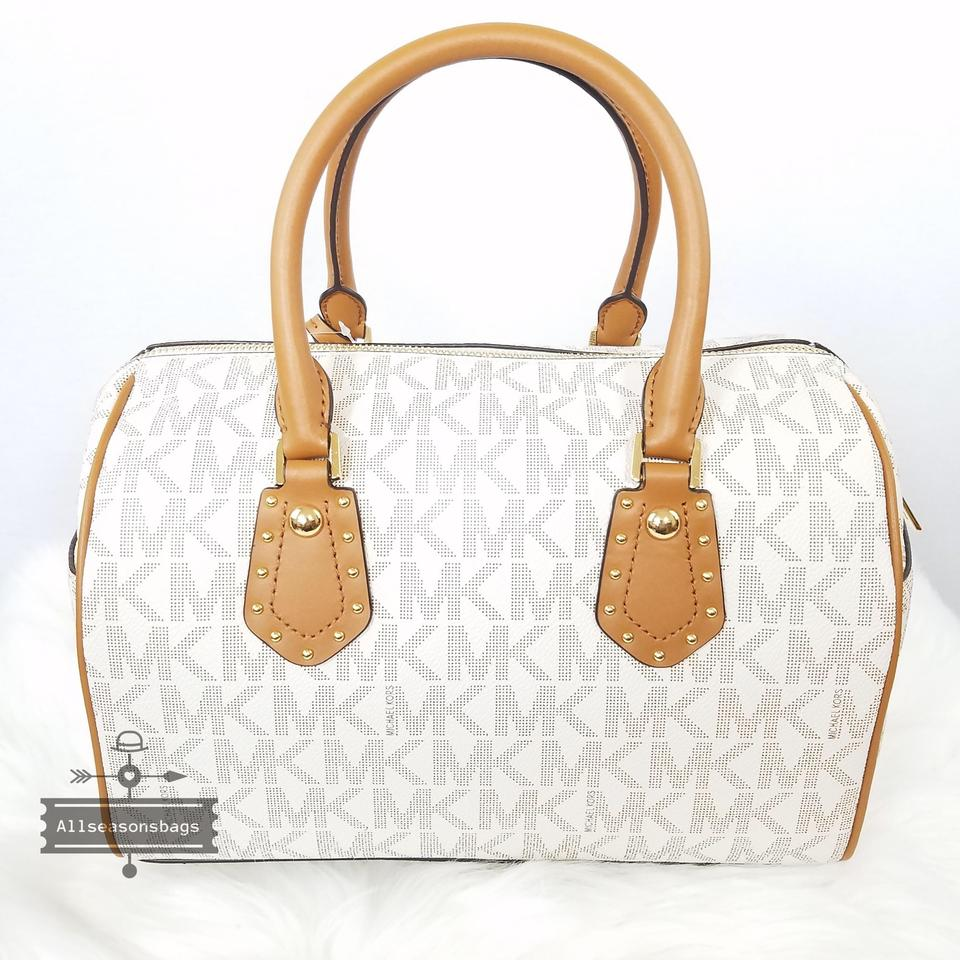 bb0329b7d79410 Michael Kors Shoulder Bag Mk Medium Aria Crossbody Handbag Vanilla Acorn  Satchel - Tradesy