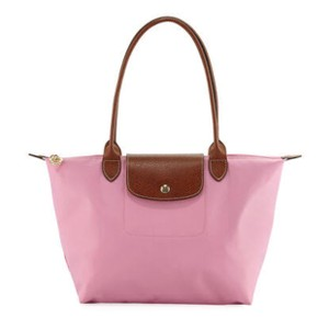 Longchamp Tote in bright pink