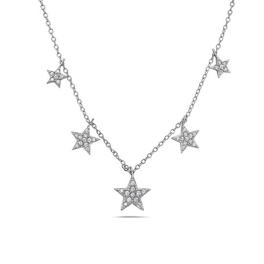 Preload https://img-static.tradesy.com/item/23777928/crush-and-fancy-silver-geo-925-sterling-five-star-crystal-necklace-0-0-540-540.jpg