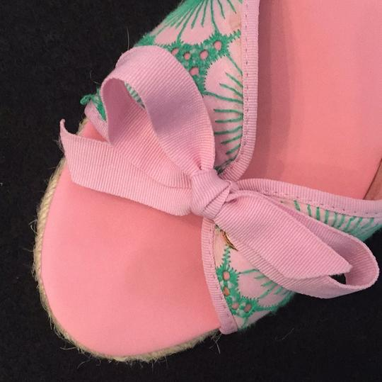 Lilly Pulitzer NEW Pink & Green Wedges Image 10