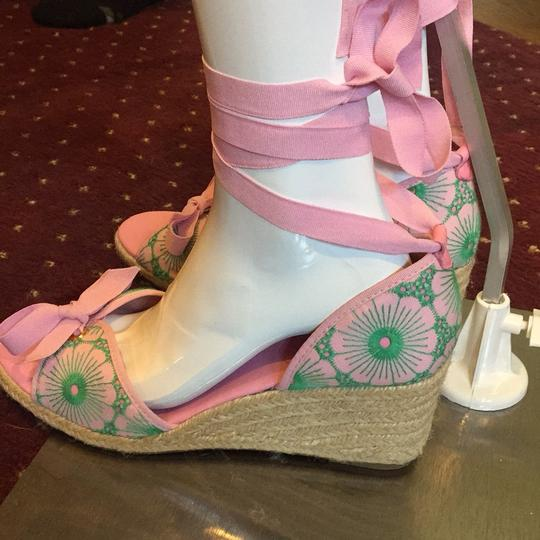 Lilly Pulitzer NEW Pink & Green Wedges Image 2