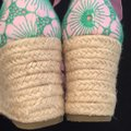 Lilly Pulitzer NEW Pink & Green Wedges Image 6