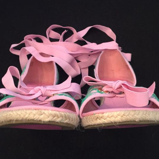 Lilly Pulitzer NEW Pink & Green Wedges Image 7