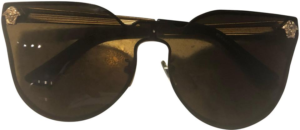 0d496746311 Versace Black and Gold Ve 2120 S Sunglasses - Tradesy