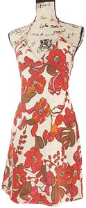 Guess short dress red Floral Halter on Tradesy