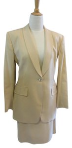 Jones New York Gold Suit with Skirt 3/4 Jacket