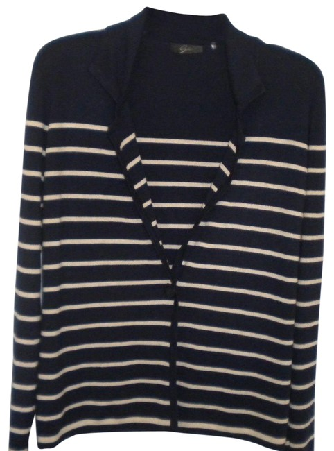 Preload https://img-static.tradesy.com/item/23778107/bryn-walker-navy-white-women-medium-cardigan-sweaterpullover-size-10-m-0-1-650-650.jpg