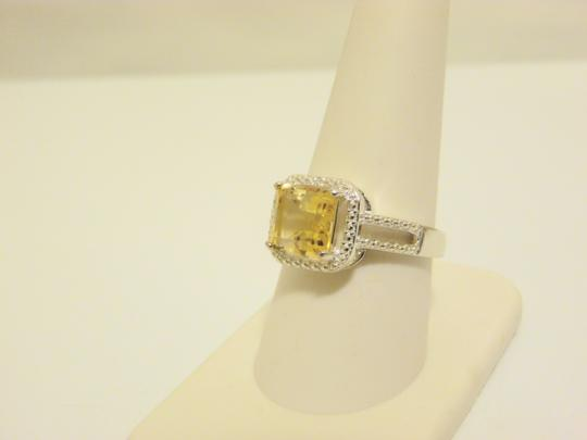Other Sevilla Silver 2.35ctw Cushion-Cut Citrine Diamond Accented Ring 9 Image 1
