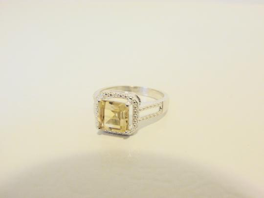 Other Sevilla Silver 2.35ctw Cushion-Cut Citrine Diamond Accented Ring 9 Image 2