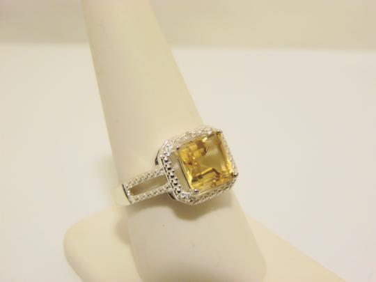 Other Sevilla Silver 2.35ctw Cushion-Cut Citrine Diamond Accented Ring 9 Image 3