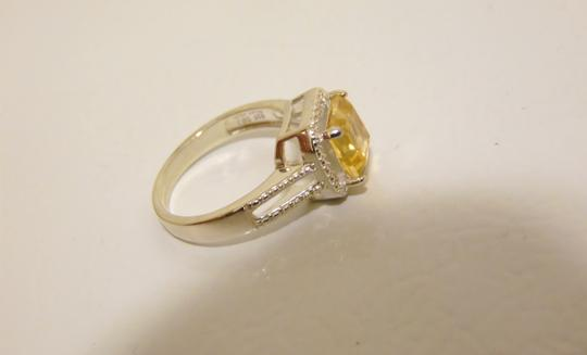 Other Sevilla Silver 2.35ctw Cushion-Cut Citrine Diamond Accented Ring 9 Image 6