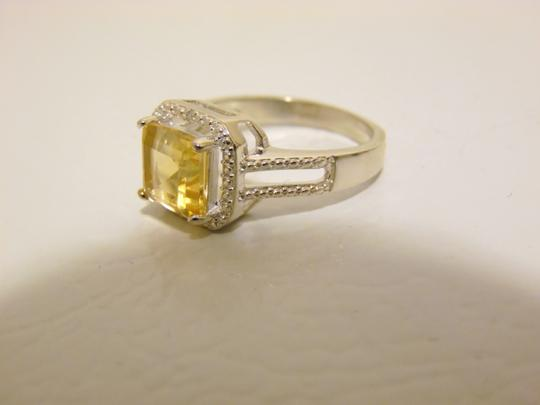 Other Sevilla Silver 2.35ctw Cushion-Cut Citrine Diamond Accented Ring 9 Image 7