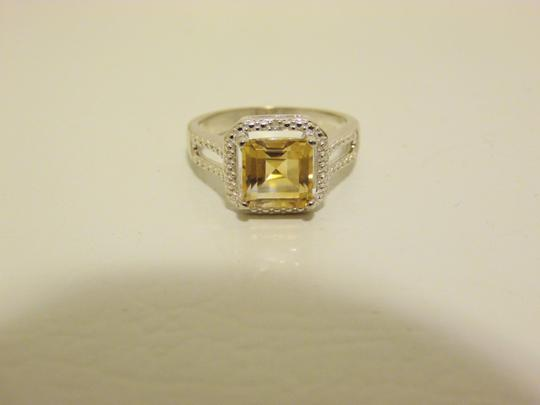 Other Sevilla Silver 2.35ctw Cushion-Cut Citrine Diamond Accented Ring 9 Image 8