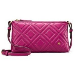 f5dde7da1f7a Tory Burch Fleming New with Tags Cross Body Raspberry Leather Tote