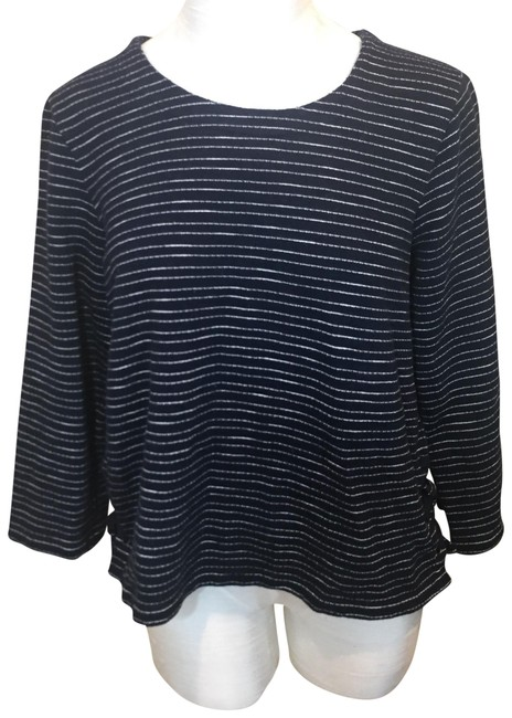Preload https://img-static.tradesy.com/item/23778206/madewell-stripe-side-lace-up-navywhite-sweater-0-1-650-650.jpg