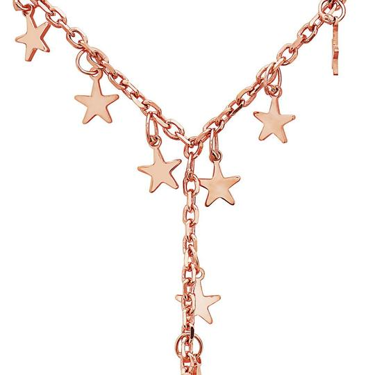 Crush & Fancy Haley- 925 Sterling Silver Rose Tone Lariat Star Necklace Image 1