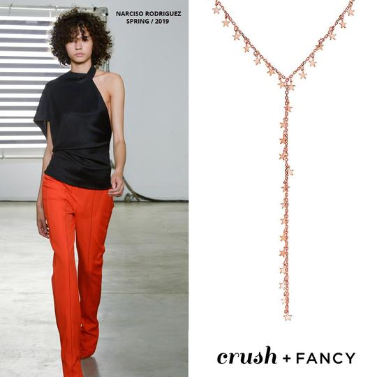 Crush & Fancy Haley- 925 Sterling Silver Rose Tone Lariat Star Necklace Image 2