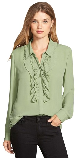 Preload https://img-static.tradesy.com/item/23778249/vince-camuto-greenwatercress-long-sleeve-ruffled-button-front-shirt-button-down-top-size-6-s-0-1-650-650.jpg