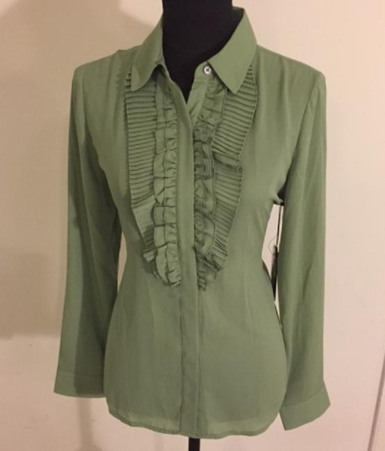 Vince Camuto Button Down Shirt Green/Watercress Image 1