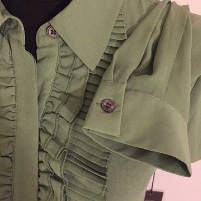 Vince Camuto Button Down Shirt Green/Watercress Image 2