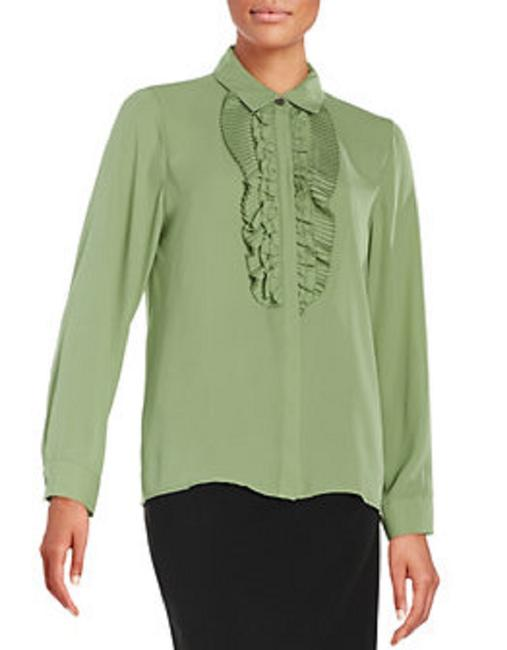 Vince Camuto Button Down Shirt Green/Watercress Image 3