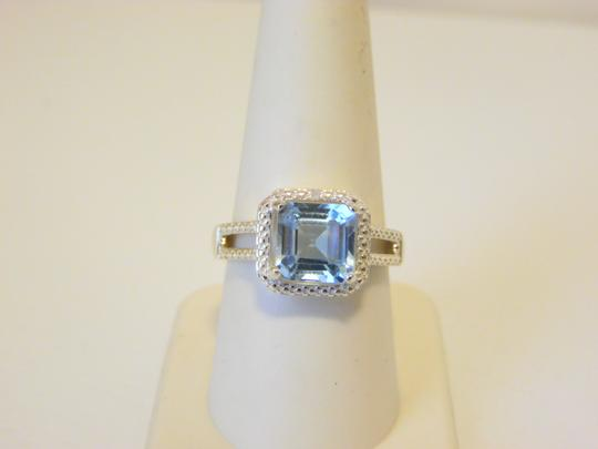 Other Sevilla Silver 3.35ctw Cushion-cut Blue Topaz Ring 9 Image 2