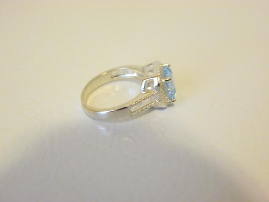 Other Sevilla Silver 3.35ctw Cushion-cut Blue Topaz Ring 9 Image 5