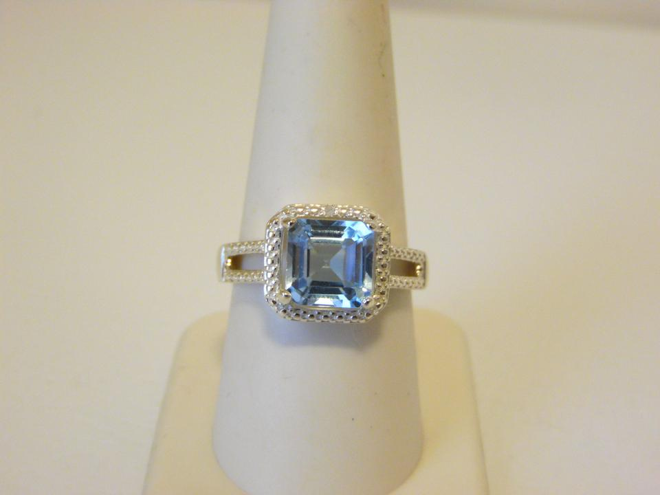811bf37fa9caa0 925 Sevilla Silver 3.35ctw Cushion-cut Blue Topaz 9 Ring - Tradesy