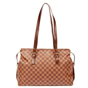 Louis Vuitton Damier Canvas Chelsea Checkered Damier Tote in Brown