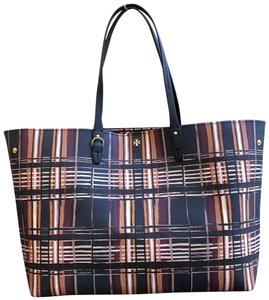Tory Burch To School Spring Large Tote in Plaid