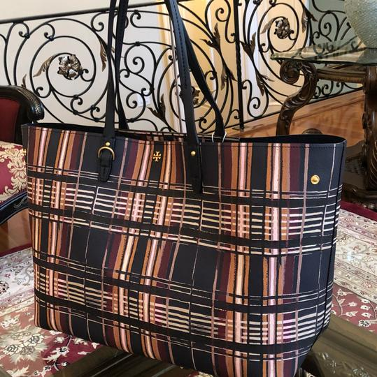 Tory Burch To School Spring Large Tote in Plaid Image 1
