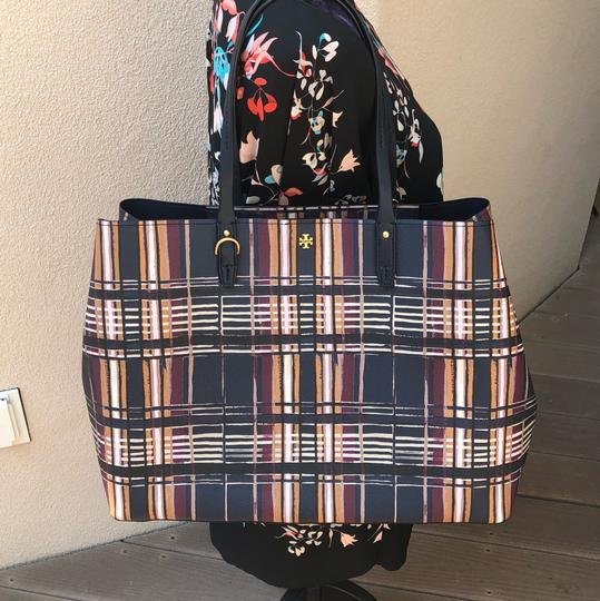 Tory Burch To School Spring Large Tote in Plaid Image 4