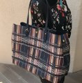 Tory Burch To School Spring Large Tote in Plaid Image 5