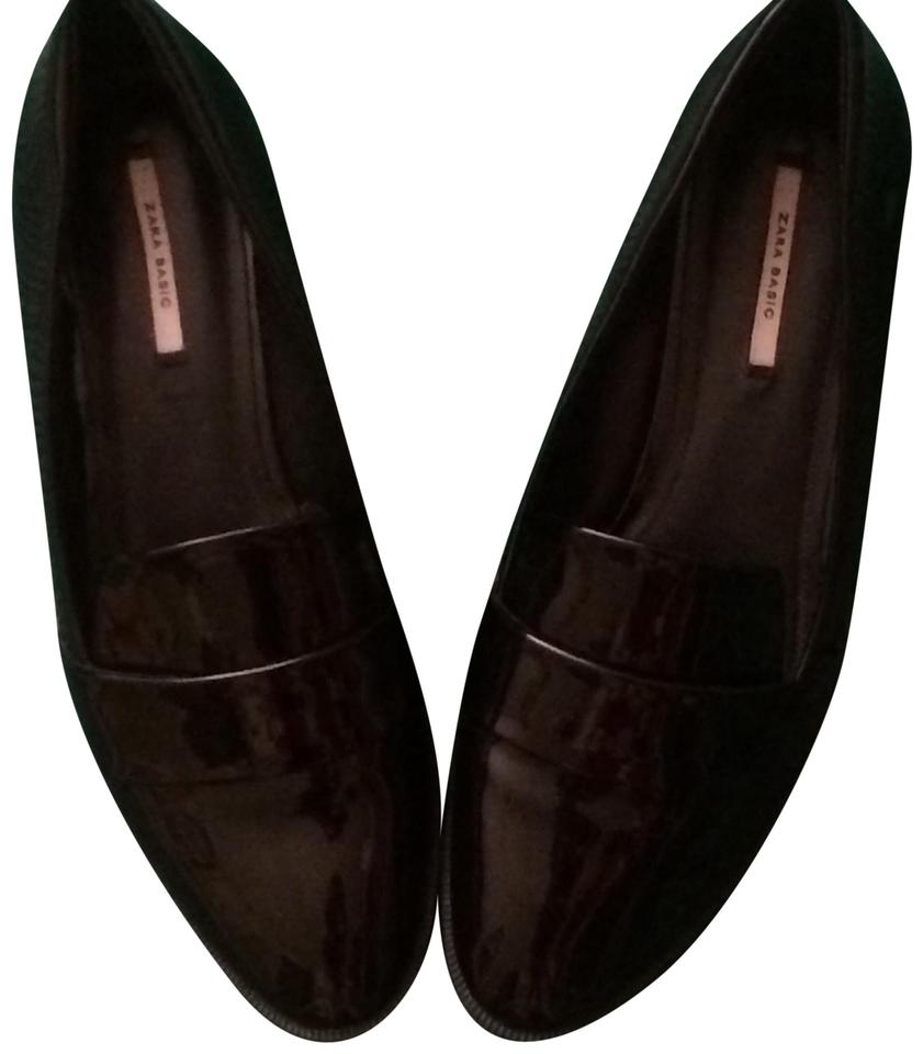 56ca701118 Zara Black Classy Patent Leather Loafers Formal Shoes Size US 8 ...