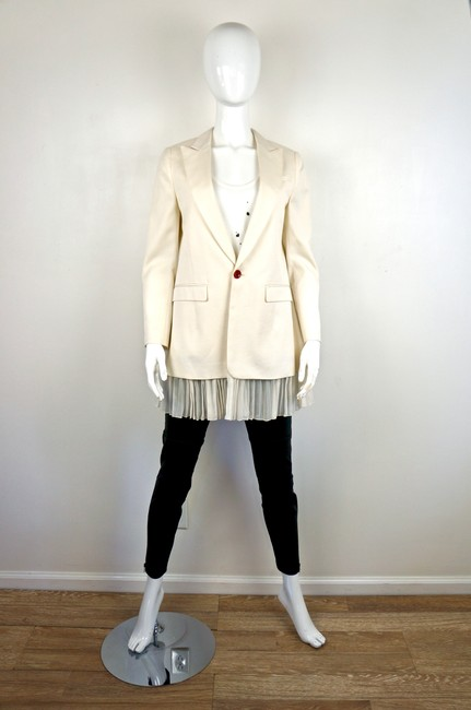 UNDERCOVER Japan Jun Takahashi Pleated Menswear white Blazer Image 1