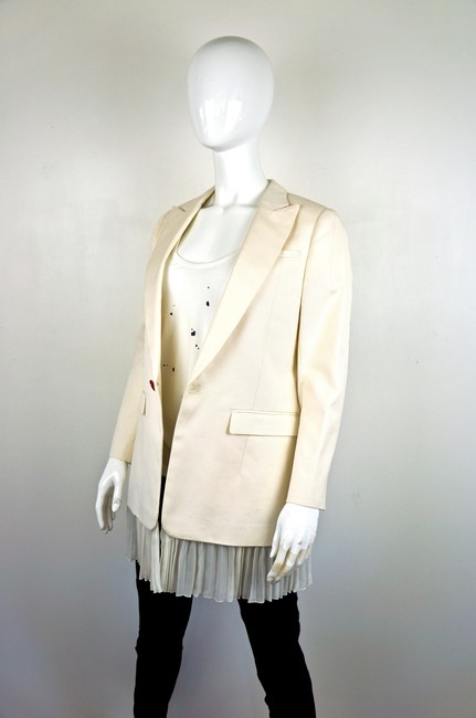 UNDERCOVER Japan Jun Takahashi Pleated Menswear white Blazer Image 2