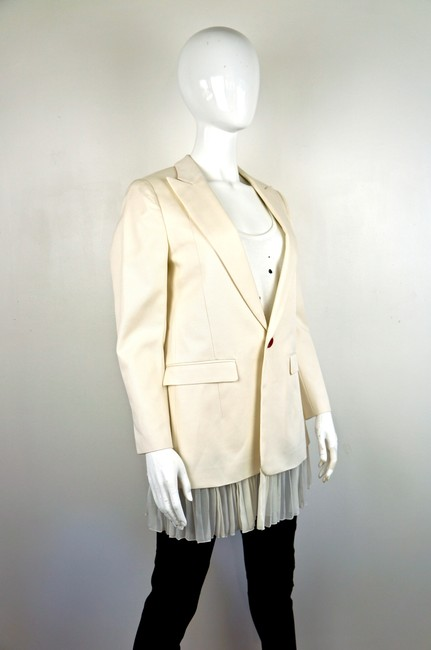 UNDERCOVER Japan Jun Takahashi Pleated Menswear white Blazer Image 3