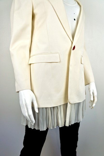UNDERCOVER Japan Jun Takahashi Pleated Menswear white Blazer Image 5