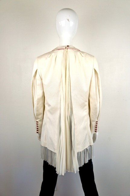 UNDERCOVER Japan Jun Takahashi Pleated Menswear white Blazer Image 6