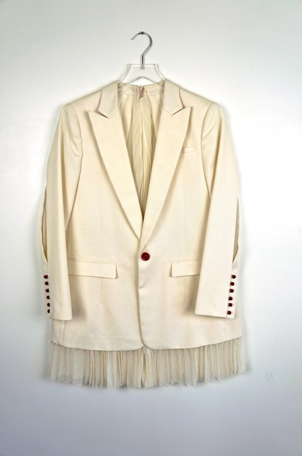 UNDERCOVER Japan Jun Takahashi Pleated Menswear white Blazer Image 7