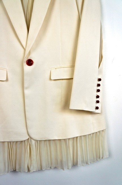 UNDERCOVER Japan Jun Takahashi Pleated Menswear white Blazer Image 8