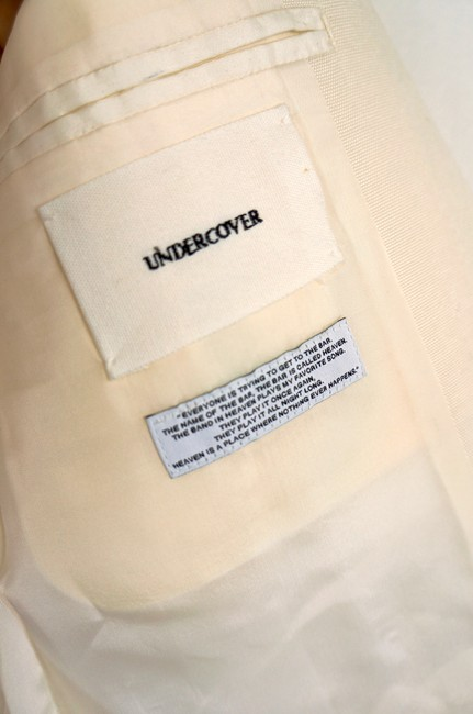 UNDERCOVER Japan Jun Takahashi Pleated Menswear white Blazer Image 9